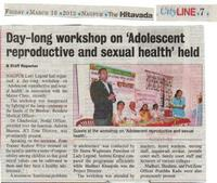 Adolescent Reproductive & Sexual Health Training Program