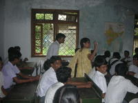 Rashmi interacting with students