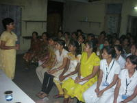Trainer with Nursing college participants