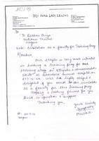 JCI Nagpur Lady Legend Invitation Letter for Nursing Staff