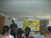 Participant giving Speech
