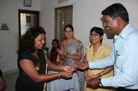 Outstanding participant receiving gift